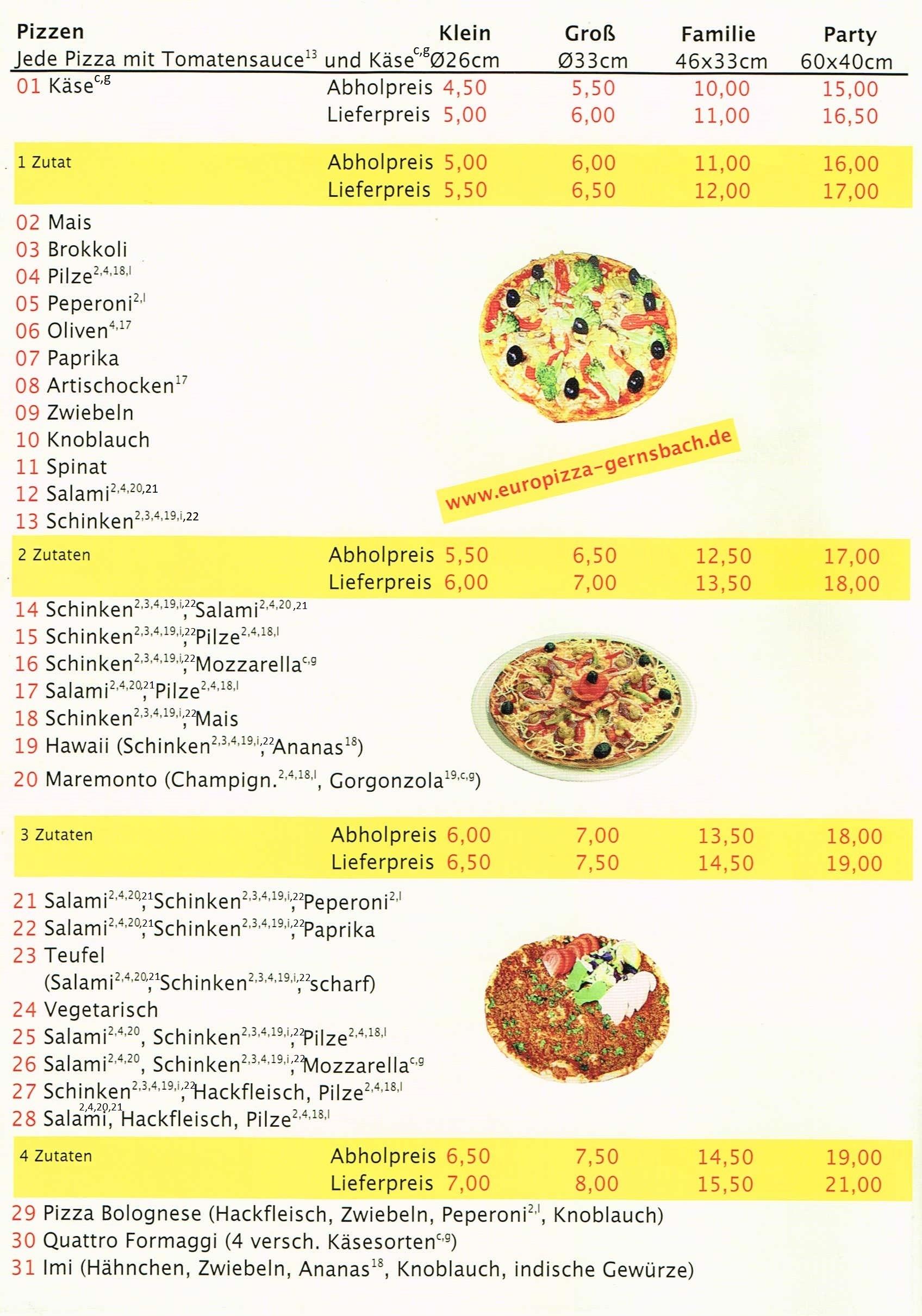 Pizza Gernsbach